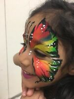 Face painting and balloon