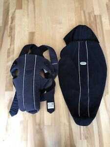 Baby bjorn carrier with winter cover and hoodie