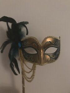 Handcrafted Feathered Masquerade Eye Mask