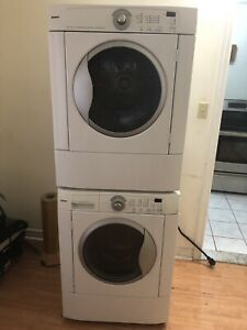 """Kenmore white 27"""" apartment size washer electric dryer"""