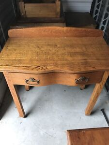 Side table wood antique
