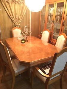 Beautiful Wood Dining Table + China Cabinet