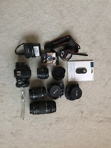 Canon T3i + lenses + accessories