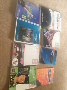 Years 8-10 school textbooks - maths, art, English, science