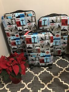New Canadian 3pc collectors edition luggage by Atlantic