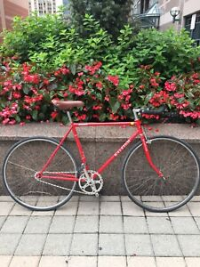 Raleigh Record Red Fixed Gear Single Speed Bike 54cm Frame