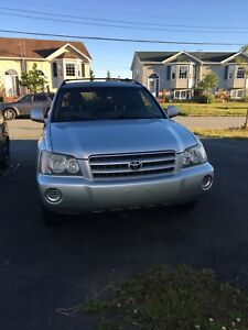 2001 Highlander for trade