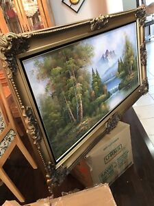 Beautiful hand painting with frame
