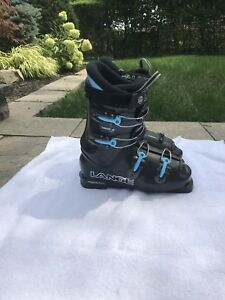 Black and Blue Downhill Ski Boots