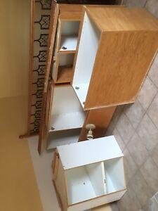 Armoire de cuisine--- Porte en bois