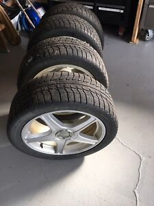 """17"""" xice winter tires and rims"""