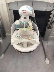 Fisher price my little lamb cradle 'n swing