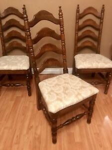 6 Mahogany Ladderback Chairs in Good Condition