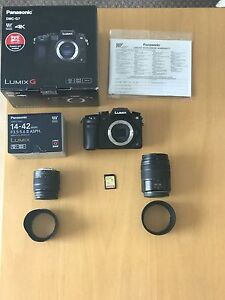 AS NEW PANASONIC LUMIX G7 WITH 2 LENSES 4K MIRRORLESS CAMERA Cottesloe Cottesloe Area Preview