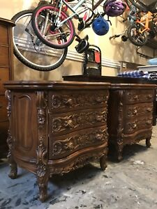 Rococo reproduction nightstands x2