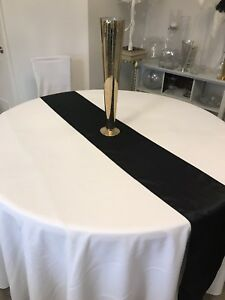 Wedding linen, Black runners for sale. All perfect condition.