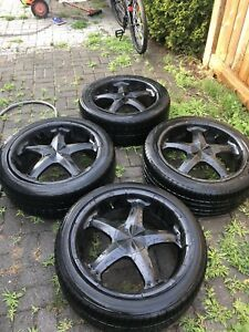 American Racing 20 inch painted black Wheels