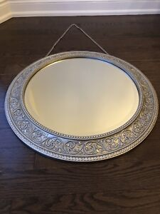 Bombay Medallion Pewter Mirror