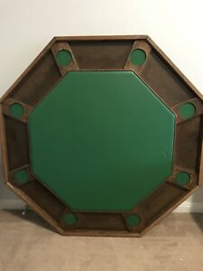 Octagon card poker table