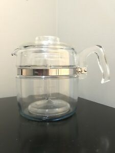 Pyrex Flame ware 6 & 9cup Percolators