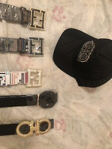 DESIGNER BELTS AND HATS FOR SALE