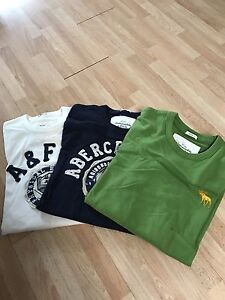 A&F long sleeve fleece shirts, size XL (Comparable to L size)