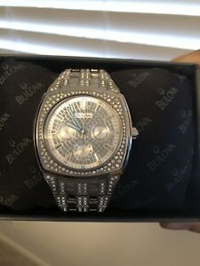 Bulova Men's Swarovski Crystal Watch