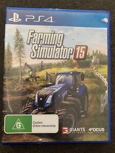 PS4 Farming simulator 15.