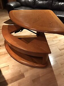 Coffee table that opens