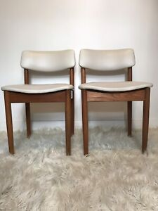 Pair of retro Mid Century Parker dining chairs.