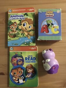 LeapFrog books and Alphabet interactive cards for sale