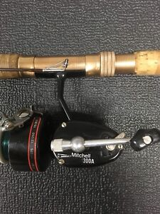 Mitchell (Garcia) Spinning Reel 300-A with Custom Rod