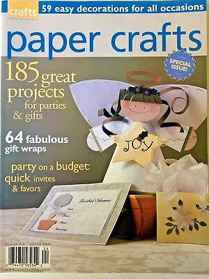 PAPER CRAFTS MAGAZINE, Special Issue, 2002-185 Great Party & Gift Projects/Ideas](Paper Crafts Ideas)