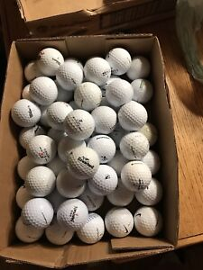 60 assorted brands used golf balls