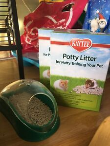 Hamster cage wheel potty and litter