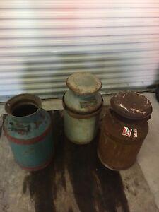 Vintage / antique farm milk cans