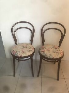 Bentwood floral chairs x 2 Ellenbrook Swan Area Preview