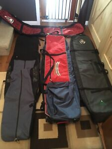 4 Snowboard Bags - 2 have Wheels