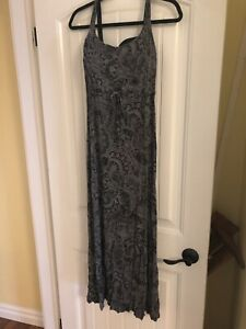 Long dress black /grey