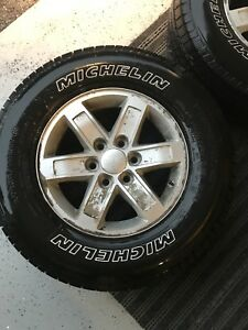 GMC aluminum rims with Michelin tires