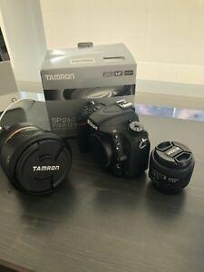 Nikon D750 Body & lens available Under 7k shots Mint condition.
