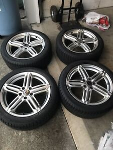 225/45/17 VW winter tires on rims- great condition