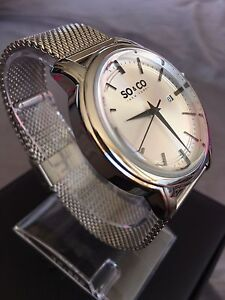 Brand New SO&CO New York Stainless Steel Mesh Bracelet Watch Maroubra Eastern Suburbs Preview