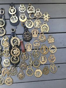 Vintage horse brass collection