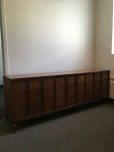 Mid century Canadian made walnut dresser