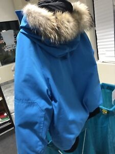 Women's light blue Canada goose bomber jacket