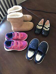 Toddler girl footwear, various sizes & prices