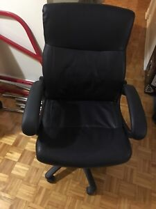 Black leather office chair  50$