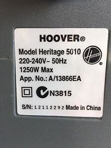 Hoover Model Heritage 5010 Bagless Vacuum Cleaner with Cleaning Heads Seaforth Manly Area Preview
