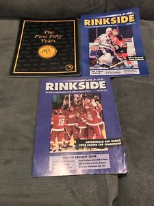 AHL hockey magazines and a couple of 80s media guides.